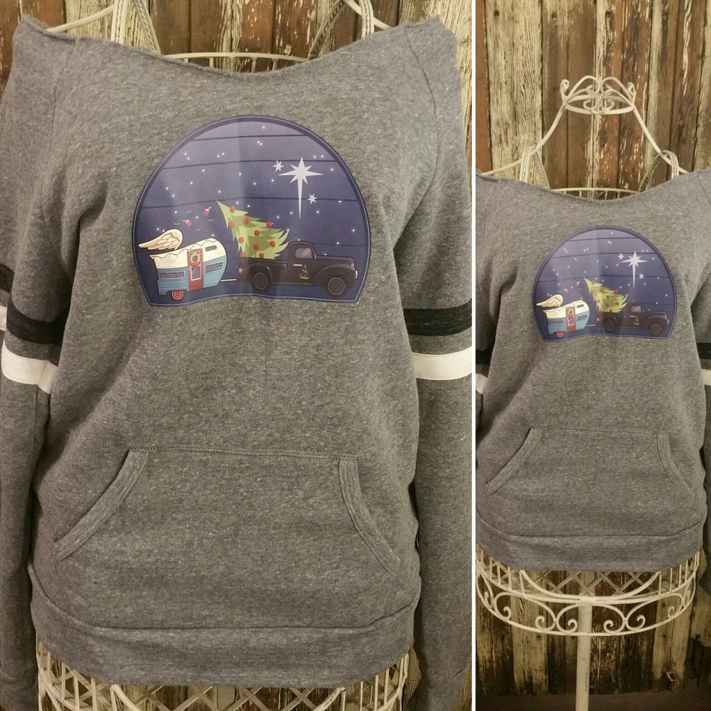 Vintage Christmas Logo: Eco sport sweatshirt vintage athletic feel